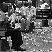 Relaxing in the park. Havana, Cuba.