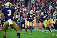 GLENDALE, AZ - JANUARY 01:  Quarterback DeShone Kizer #14 of the Notre Dame Fighting Irish throws a pass during the first quarter of the BattleFrog Fiesta Bowl against the Notre Dame Fighting Irish at University of Phoenix Stadium on January 1, 2016 in Glendale, Arizona.  (Photo by Jennifer Stewart/Getty Images)