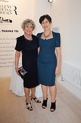 Left to right, JOAN BURSTEIN and her daughter CAROLINE BURSTEIN at a dinner hosted by Harper's Bazaar to celebrate Browns 40th Anniversary in aid of Women International held at The Regent Penthouses & Lofts, 16-18 Marshall Street, London on 20th May 2010.