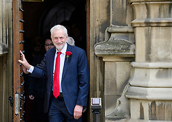 © Licensed to London News Pictures. 13/06/2017. London, UK. Labour party leader JEREMY CORBYN holds a photocall outside parliament with his newly elected Scottish Labour MPs. Over the weekend British prime minister Theresa May formed a new cabinet and continues discussions with the DUP in an attempt to form a new government. Photo credit: Ben Cawthra/LNP