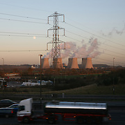 Traffic on the M1 with powerstation