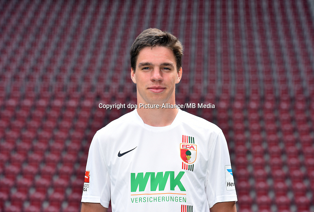 German Soccer Bundesliga 2015/16 - Photocall of FC Augsburg on 08 July 2015 in Augsburg, Germany: Raphael Framberger
