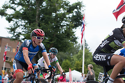 Hayley Simmonds (GBR) of Team WNT rides mid-pack at the beginning of the final local lap in Mysen on Stage 1 of the Ladies Tour of Norway - a 101.5 km road race, between Halden and Mysen on August 18, 2017, in Ostfold, Norway. (Photo by Balint Hamvas/Velofocus.com)