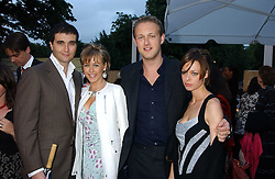 Left to right,DAVID PEACOCK, LADY ALEXANDRA SPENCER-CHURCHILL, LORD EDWARD SPENCER-CHURCHILL and MELISSA MILNE at the annual Serpentine Gallery Summer Party co-hosted by Jimmy Choo shoes held at the Serpentine Gallery, Kensington Gardens, London on 30th June 2005.<br />