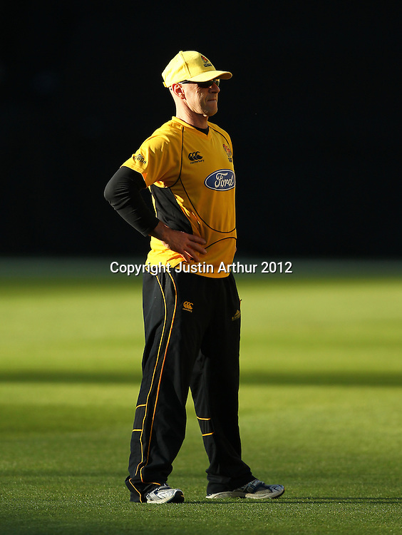 Jamie Siddons during the 2012/2013 HRV Cup Twenty20 session. Wellington Firebirds v Canterbury Wizards at Westpac Stadium, Wellington, New Zealand on Friday 9 November 2012. Photo: Justin Arthur / photosport.co.nz