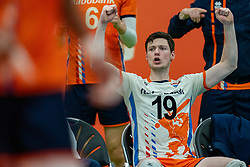 09-06-2019 NED: Golden League Netherlands - Spain, Koog aan de Zaan<br /> Fourth match poule B - The Dutch beat Spain again in five sets in the European Golden League / Just Dronkers #19 of Netherlands
