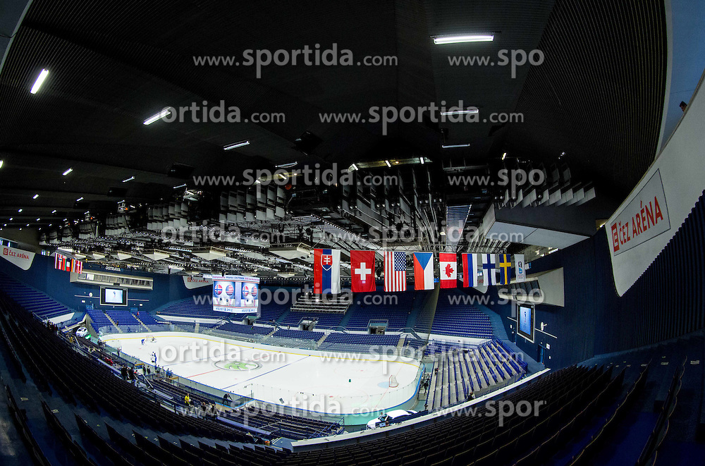 CEZ Arena 1 day prior to the 2015 IIHF Ice Hockey World Championship in Czech Republic, on April 30, 2015 in Ostrava, Czech Republic. Photo by Vid Ponikvar / Sportida