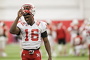 March 06, 2013: Cornerback Stanley Jean-Baptiste #16 at spring practice at Hawks Championship Center.
