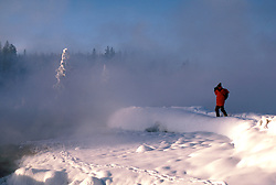 WY: Wyoming; Yellowstone National Park, Winter, West Thumb     .Photo Copyright Lee Foster, lee@fostertravel.com, www.fostertravel.com, (510) 549-2202.Image: wyyell204