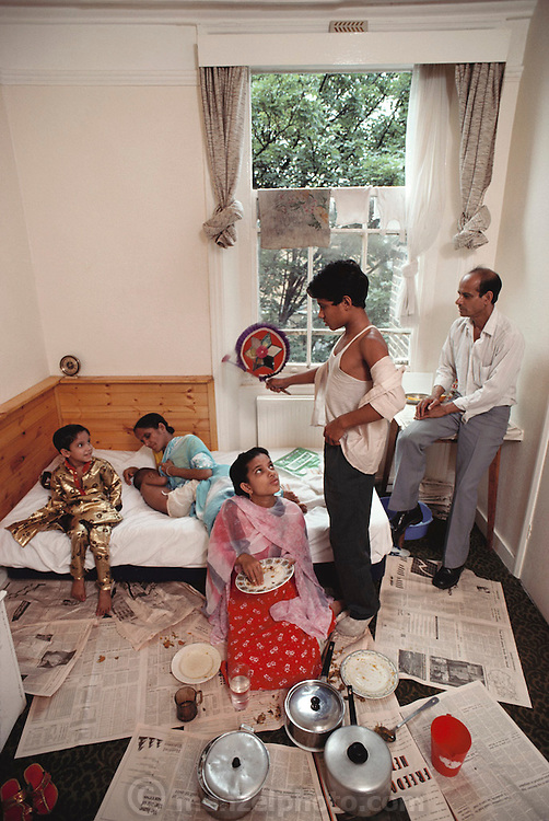 (1992) Abdul Matlib and his family from Bangladesh who were reunited in Britain after DNA testing proved blood relation.