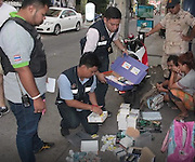 Motorbike Viagra Delivery Couple Face Stiff Penalties After Capture<br /> <br /> At 18.30 hrs on 30th September 2016 Mr. Chakorn Kanchanawatta District Chief Officer Banglamung Chonburi received a complaint regarding a smuggling and distribution of illegal aphrodisiac in the broad day light in Soi 13, Pattaya 2ndRoad, Central Pattaya, M. 9 Nongprue Banglamung Chonburi<br /> <br /> At the location there was a couple Ms. Jiraporn Tasri, 21 years and Mr. Apisit Homhual, 32 years sitting on the motorcycle with a purple box of Viagra, KamaGra, Blackstorm in the shape of tablets, jelly and liquid. The police seized the box as evidence.<br /> <br /> The couple said they ordered by phone from an anonymous agent recommended by friend in the similar business. They have been selling for over six months in the beer bar areas of Pattaya. Regular customers, they say, were senior foreigners who are sexually active.<br /> <br /> The police said these illegal drugs can be deadly and causes allergy, shock and heart attack. The substances were not regulated and such medicines should only be prescribed by doctors.<br /> ©Exclusivepix Media
