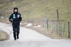February 8, 2019 - Japanese athlete warming up before first competition day of the FIS Ski Jumping World Cup Ladies Ljubno on February 8, 2019 in Ljubno, Slovenia. (Credit Image: © Rok Rakun/Pacific Press via ZUMA Wire)