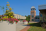 Millersville University campus includes modern new buildings as well as historic buildings.