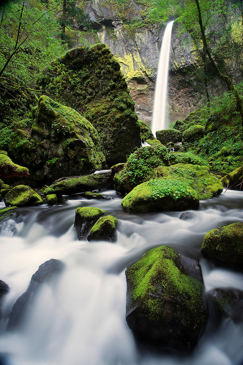 Elowah Falls in the Columbia River Gorge.