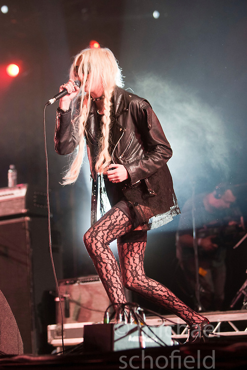 Taylor Momsen of The Pretty Reckless play the King Tut's Wah Wah Tent..T in the Park on Sunday 10th July 2011. T in the Park 2011 music festival takes place from 7-10th July 2011 in Balado, Fife, Scotland..©Pic : Michael Schofield.