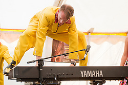 """Professor"" Vince Hurley on Keyboards..9 September 2012.Image © Paul David Drabble"