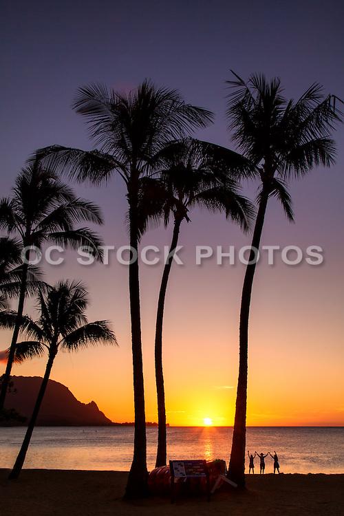 Pu'u Poa Beach Sunset