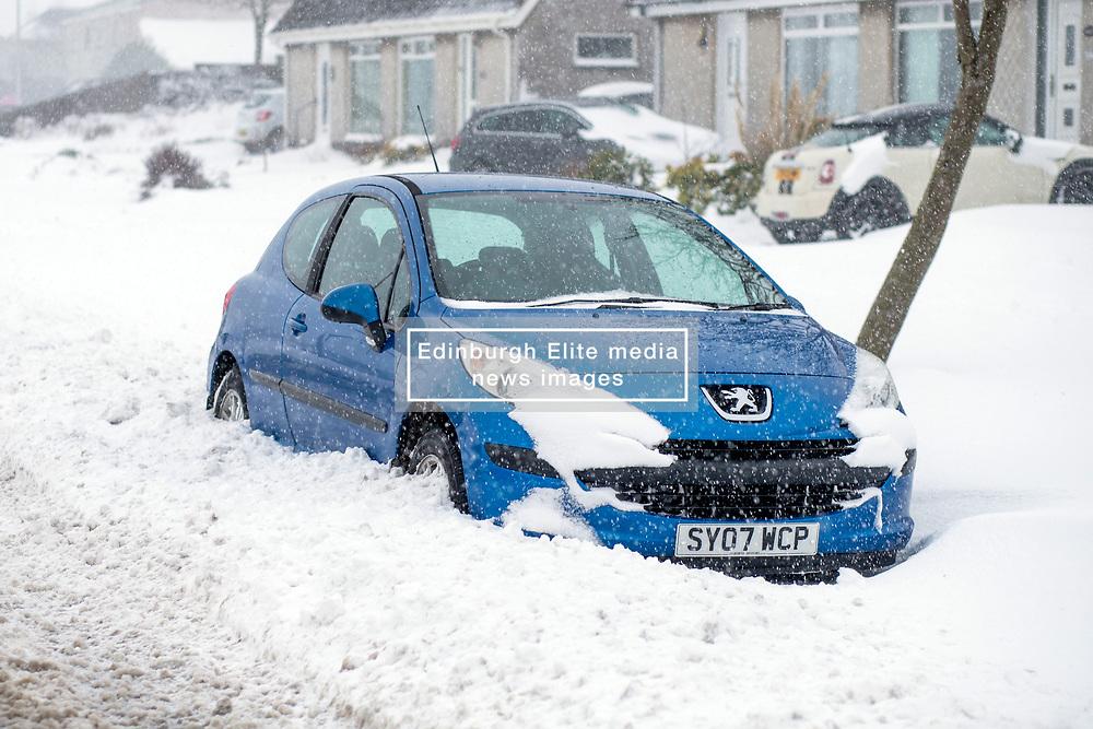 The Beast From the East, Dunfermline, 01/03/2018<br />A car snowed in<br />(c)Craig Brown| Edinburgh Elite media