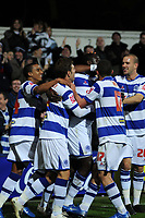 Photo: Tony Oudot/Sportsbeat Images.<br /> Queens Park Rangers v Crystal Palace. Coca Cola Championship. 04/12/2007.<br /> Damion Stewart of QPR celebrates the first goal with teammates