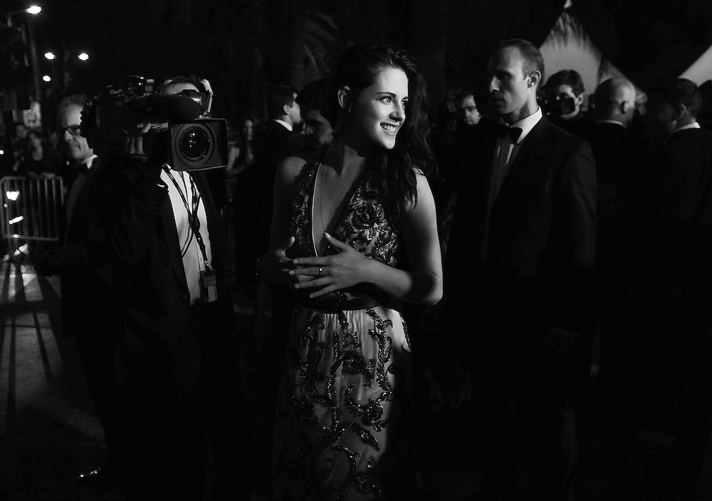 Actress  Kristen Stewart leaving the Red Carpet of 'On The Road' at  65th Annual Cannes Film Festival at Palais des Festivals on May 23, 2012 in Cannes, France..Photo Ki Price.