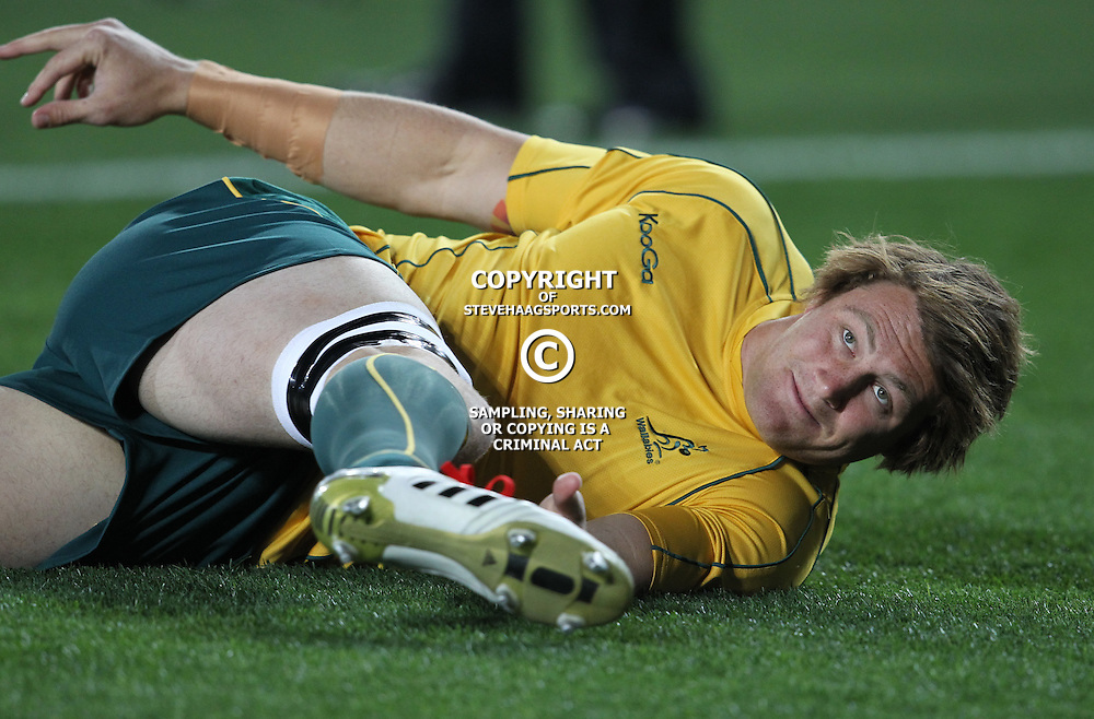 AUCKLAND, NEW ZEALAND - OCTOBER 21, Scott Higginbotham during the 2011 IRB Rugby World Cup 3rd &amp; 4th playoff match between Australia and Wales at Eden Park on October 21, 2011 in Auckland, New Zealand<br /> Photo by Steve Haag / Gallo Images