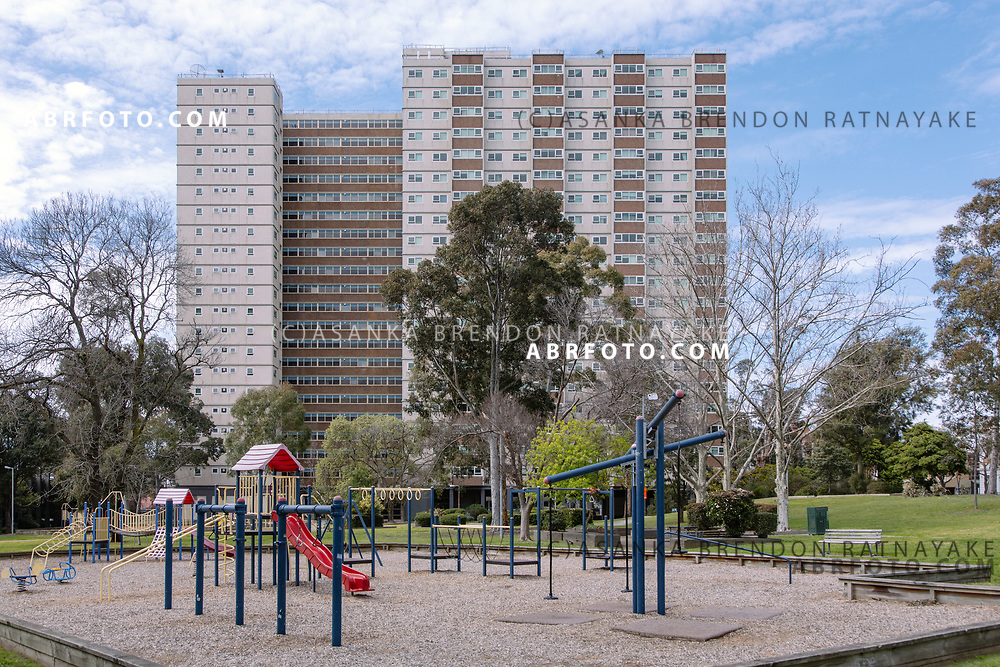 A playground in front of the large Atherton Gardens Housing Estate on Gertrude Street in Melbourne, Australia, September 1, 2017. It was once a place where homeless Aboriginals could find shelter in safe surrounds amongst their own community. Asanka Brendon Ratnayake for the New York Times