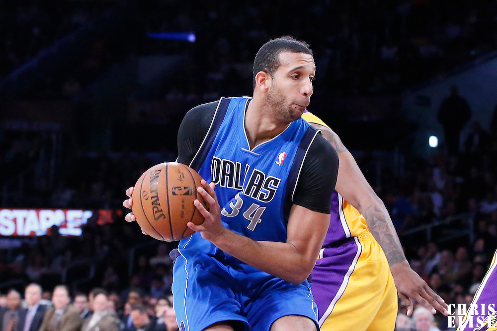 04 April 2014: Dallas Mavericks forward Brandan Wright (34) is seen during the Dallas Mavericks 107-95 victory over the Los Angeles Lakers at the Staples Center, Los Angeles, California, USA.