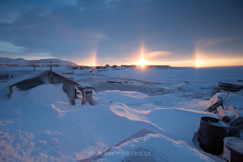 The frozen hamlet of Ulukhaktok is found on Victoria Island in Canada's Northwest Territories. It's a small community with wonderful people. The people are as warm as the landscape is cold.