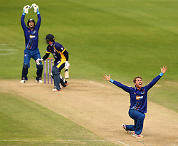 Gloucestershire's Tom Smith appeals for an LBW - Mandatory by-line: Robbie Stephenson/JMP - 07966386802 - 04/08/2015 - SPORT - CRICKET - Bristol,England - County Ground - Gloucestershire v Durham - Royal London One-Day Cup