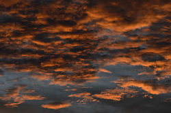 Clouds seen at sunset from the Griffith Observatory in Griffith Park in Los Angeles.
