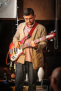 Austin O'Connor on bass with the Jason Ager band at The Bus Stop Music Cafe in Pitman, NJ.