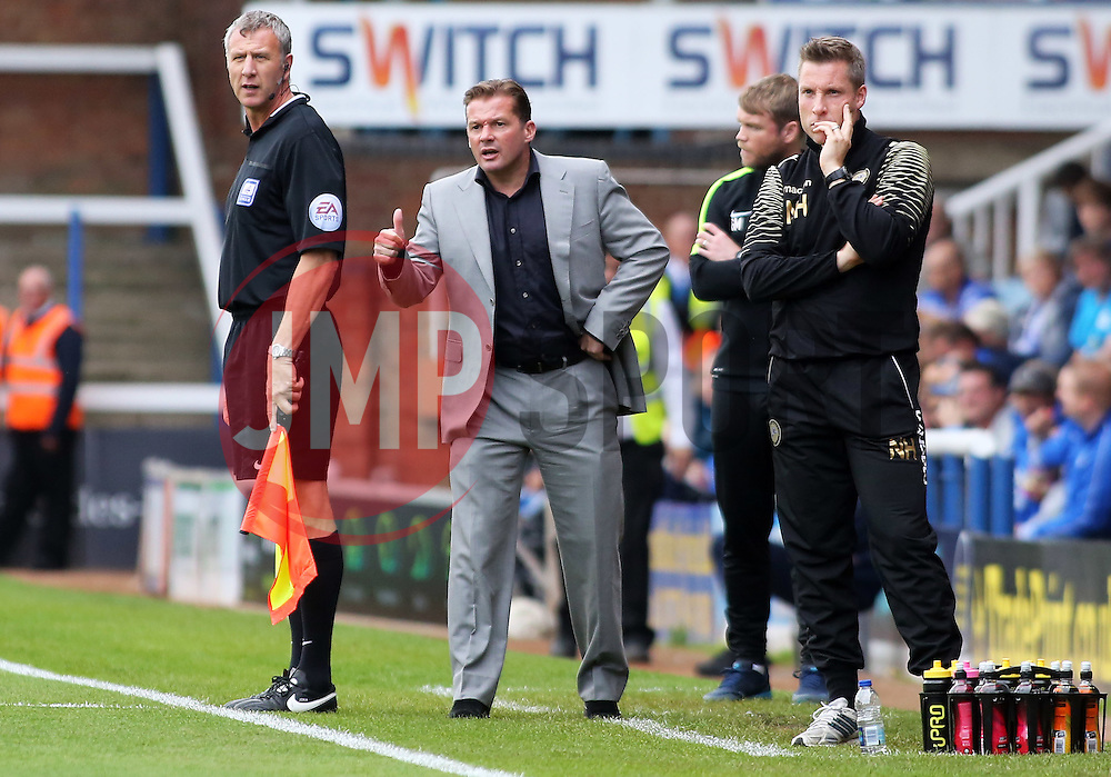 Peterborough United Manager Graham Westley gives the thumbs up from the touchline - Mandatory byline: Joe Dent/JMP - 07966 386802 - 03/10/2015 - FOOTBALL - ABAX Stadium - Peterborough, England - Peterborough United v Millwall - Sky Bet League One