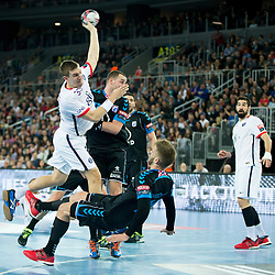 Sergiy Onufriyenko #33 of Paris Sant-Germain during handball match between PPD Zagreb (CRO) and Paris Saint-Germain (FRA) in 11th Round of Group Phase of EHF Champions League 2015/16, on February 10, 2016 in Arena Zagreb, Zagreb, Croatia. Photo by Urban Urbanc / Sportida