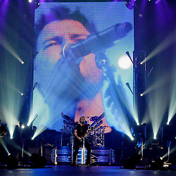 17 April, 2009: Nickelback performs on stage during their concert tour stop in support of their new album 'Dark Horse' at the New Orleans Arena in New Orleans, Louisiana.