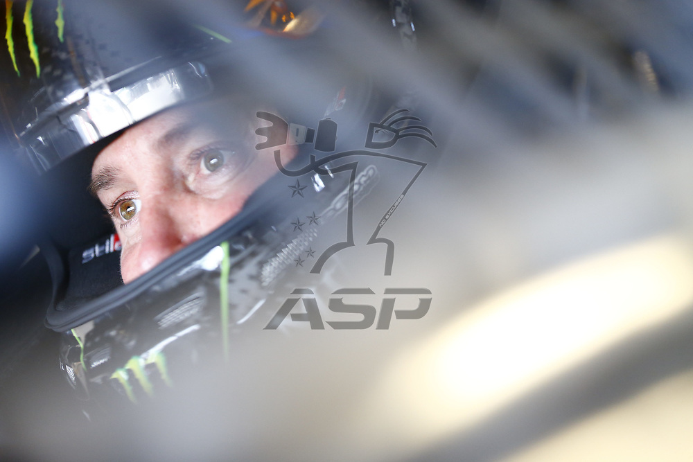 July 07, 2017 - Sparta, KY, USA: Kurt Busch (41) straps into his car to practice for the Quaker State 400 at Kentucky Speedway in Sparta, KY.