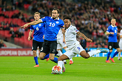 Raheem Sterling of England shoots - Mandatory byline: Jason Brown/JMP - 07966 386802 - 09/10/2015- FOOTBALL - Wembley Stadium - London, England - England v Estonia - Euro 2016 Qualifying - Group E