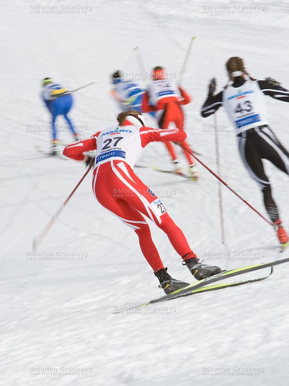 "FIS WC Granåsen Trondheim - March 14th 2009..""Viessmann"" Cross Country FIS World Cup .30km fellesstart klassisk damer..Ladies 30km Classic Mass start"