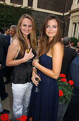 Left to right, BRYONY DANIELS and LADY NATASHA RUFUS-ISAACS at the Tatler Summer Party 2006 in association with Fendi held at Home House, Portman Square, London W1 on 29th June 2006.<br />