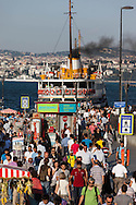 Turkey. Istambul. Eminonu . urban life. Commuters going back home on a ferry boat crossing the Golden horn