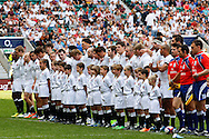 England line up for the National Anthem during the International Test Match match at Twickenham Stadium, Twickenham<br /> Picture by Andrew Tobin/Focus Images Ltd +44 7710 761829<br /> 01/06/2014