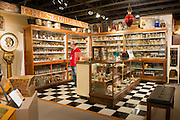 The Museum of the Oregon Territory has a fully stocked, authentic exhibit of a pharmacy from the early 20th Century.