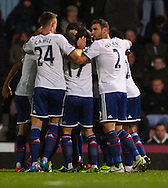 Picture by David Horn/Focus Images Ltd +44 7545 970036<br /> 23/11/2013<br /> Frank Lampard of Chelsea celebrates scoring his first goal of the game with team mates during the Barclays Premier League match at the Boleyn Ground, London.