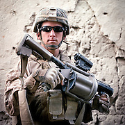 Location:<br /> Patrol Base Fires, Sangin District, Helmand Province, Afghanistan<br /> <br /> Unit: <br /> 3rd Squad, 1st Platoon, Bravo Company, 1st Battalion, 5th Marines<br /> <br /> Name and Rank: Lance Corporal David Ortega<br /> <br /> Age: 20<br /> <br /> Hometown: Beaumont, California<br /> <br /> Why did you join the Marines?<br /> <br /> &quot;I have a lot of family that&rsquo;s in the Marine Corps . . . my mom&rsquo;s worked on the base for so long that whenever she took me to work, I would just always look up to the Marines and I was like, I&rsquo;m gonna become one of them someday.&quot;<br /> <br /> Describe Sangin for someone back home:<br /> <br /> &quot;The Helmand River that runs through makes it look nice, and then the green zone makes it look even better. I was coming here thinking it was gonna be all desert, and then when I seen all the trees and all the poppy and the flowers from the poppy, I thought it looked like a really neat place to be.&quot;<br /> <br /> What do you think about the Taliban?<br /> <br /> &quot;The Taliban fighters, they&rsquo;re not stupid. A lot of people say they&rsquo;re stupid but they&rsquo;re good at what they do. They observe us, they watch our routes and they watch everything that we do for awhile, and then they hit us with IEDs on routes that we take or treelines that we take constantly, and they have complex ambushes in areas that we walk normally.&quot;<br /> <br /> What is the worst part about your job?<br /> <br /> &quot;The hardest part of what we do out here is probably watching our friends get hurt or pass away.&quot;<br /> <br /> Do you think the emotional weight of what you've experience will catch up to you?<br /> <br /> &quot;I think they try to keep our minds off of it as much as they can 'cause we&rsquo;re always constantly working out here, but when we go home it might be a different story, it might not.&quot;<br /> <br /> Is it weird to think you were just in high school two years ago?<br /> <br /> &quot;I knew what I was doing when I went to go talk to the recruiter because it was a time of war, and I knew I was gonna get sent out here, but just being in this situation, it&rsquo;s kind of shocking.&quot;<br /> <br /> Will you re-enlist?<br /> <br /> &quot;I&rsquo;m planning to re-enlist. I wanna re-enlist because this i
