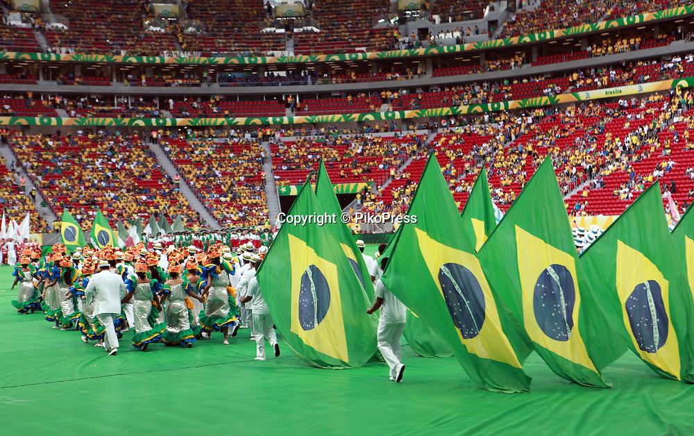 FIFA CONFEDERATIONS CUP BRAZIL 2013 - Brasilia - <br /> Estadio Nacional de Brasilia , Mane Garrincha.<br /> Open Ceremony.<br /> June 15, 2013<br /> &copy; Gabriel Piko / PikoPress