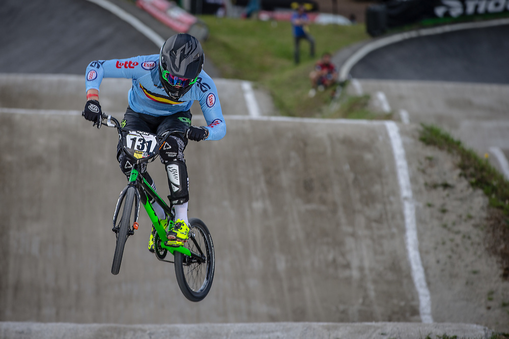 #131 (JANSSENS Marnicq) BEL during round 4 of the 2017 UCI BMX  Supercross World Cup in Zolder, Belgium.