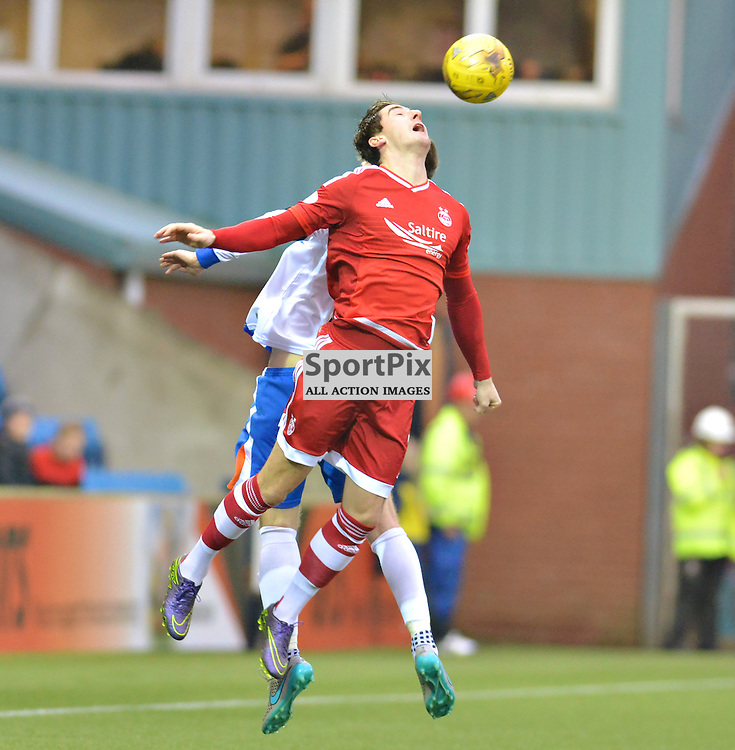 Kenny McLean of Aberdeen wins an aerial battle against Killie......(c) BILLY WHITE | SportPix.org.uk