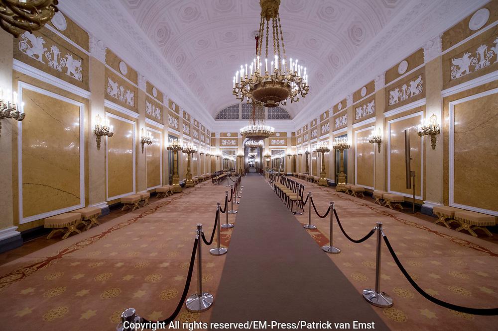 Openstelling Paleis Noordeinde en het Koninklijk Staldepartement<br /> <br /> Op de foto: Grote Balzaal