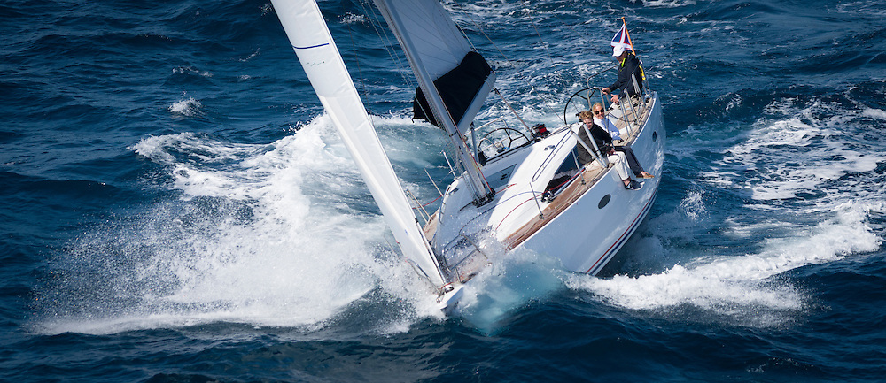April 2015, Plama de Malorca, Spain, Maxi 1200 designed by Pelle Petterson build be Delphia Yachts sailing in the bay of Palma