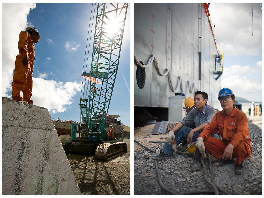 workers at the facilities of Strategic Marine, Vung Tau, Vietnam