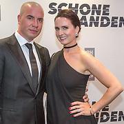 NLD/Amsterdam/20150907 - Premiere Schone Handen, Jeroen van Koningsbrugge en partner Marie-Claire Witlox